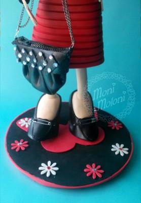 fofucha con vestido y zapatos de tacon
